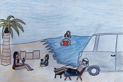 Jette träumt von Familienurlaub am Meer