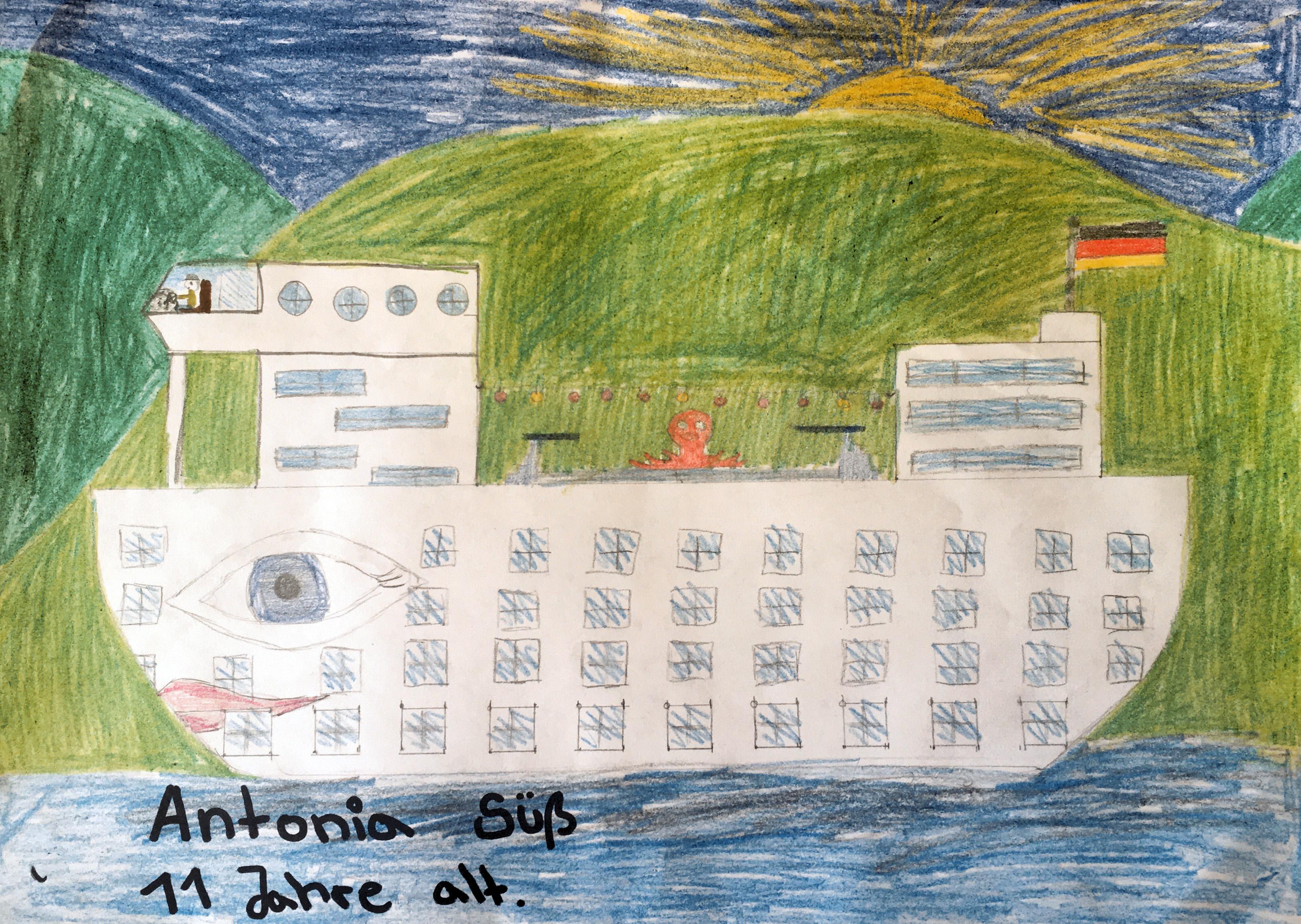Antonia träumt von einer tollen Kreuzfahrt auf der AIDA.