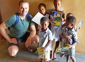 Knut und Kinder Waisenhaus Namibia